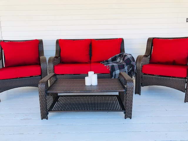 Seating on the deck.